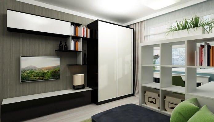 шкаф кровать в интерьере