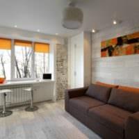 дизайн квартиры студии 22 кв м
