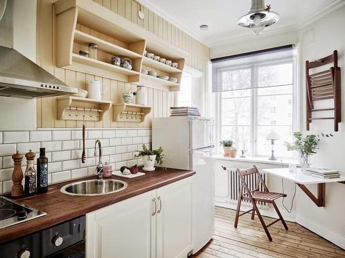 кухня на даче в скандинавском стиле
