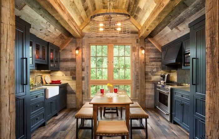 кухня столовая кантри