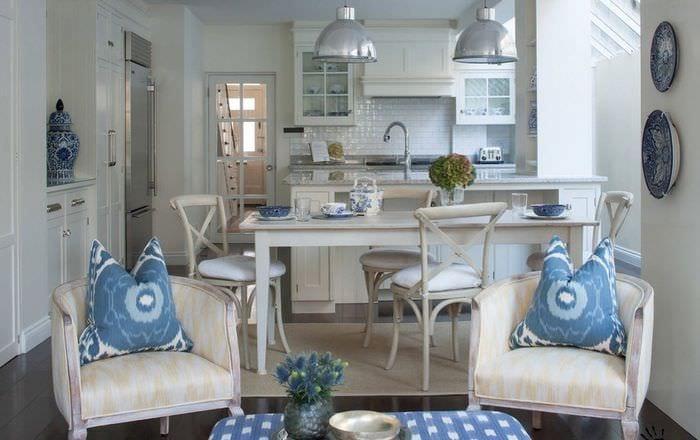 планировка кухни столовой