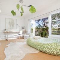 дизайн маленького зала салатовые тона
