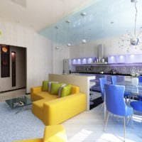 красивый дизайн маленькой квартиры студии