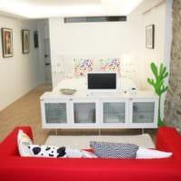стильный дизайн маленькой квартиры студии