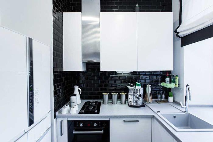 скандинавский стиль кухни 6 кв м