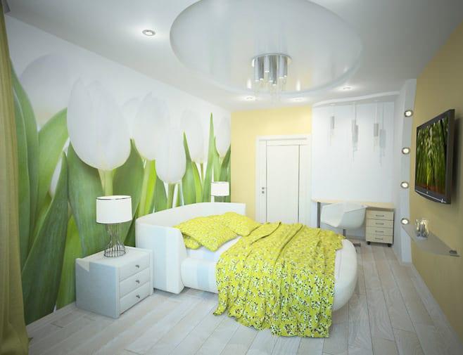 дизайн зала с диваном