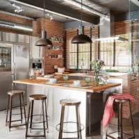 дизайн кухни студии современные идеи