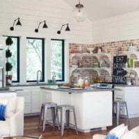 дизайн кухни студии в доме