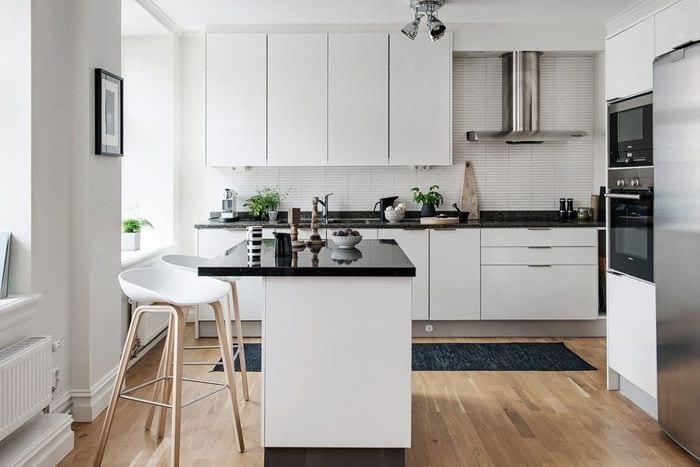 дизайн белой кухни 3 кв метра
