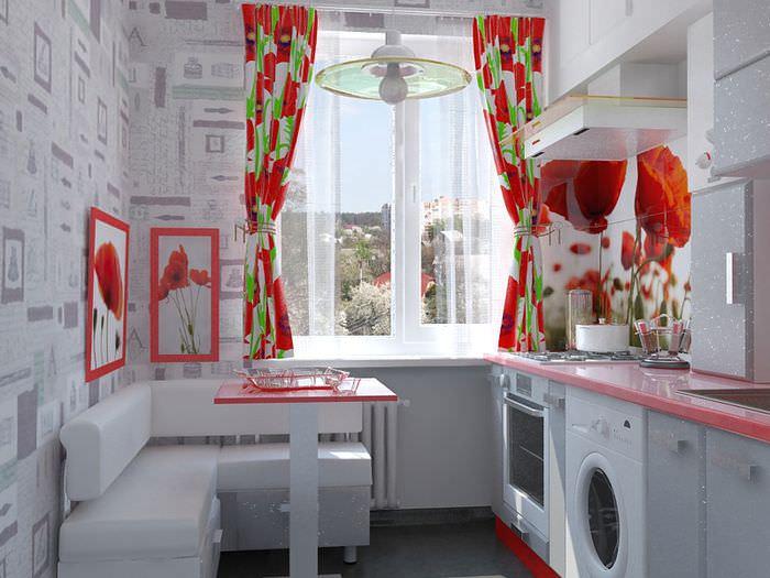 дизайн кухни с диванчиком
