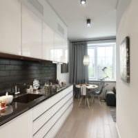 светлая кухня с диваном