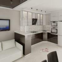 проект кухни с диваном