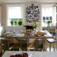 идеи дизайна кухни с диваном