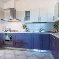 фиолетовый гарнитур кухни 5 кв м