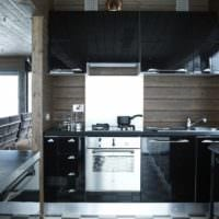 фото черной кухни 3 на 3