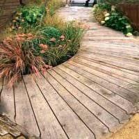 идея применения светлых садовых дорожек в дизайне двора фото