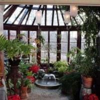 идея использования ярких идей оформления зимнего сада фото