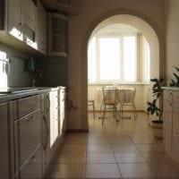 вариант красивого интерьера кухни 12 кв.м фото