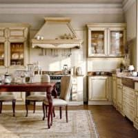 вариант яркого декора кухни в деревенском стиле картинка