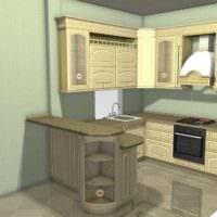 вариант красивого дизайна кухни в классическом стиле картинка
