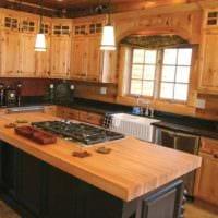 идея яркого стиля кухни 13 кв.м фото