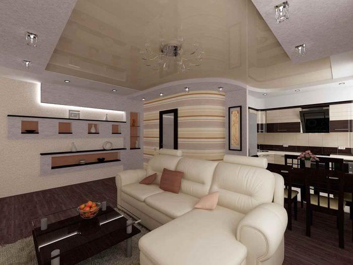 вариант светлого декора квартиры студии 26 квадратных метров