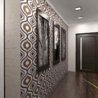 пример светлого стиля прихожей в частном доме картинка