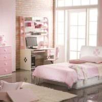 вариант необычного стиля детской комнаты для девочки картинка