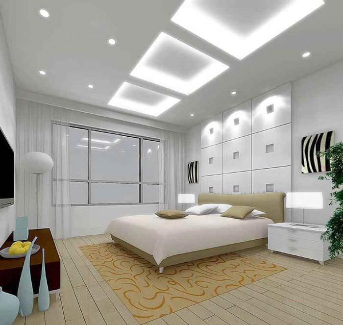 идея светлого интерьера гостиной 15 кв.м