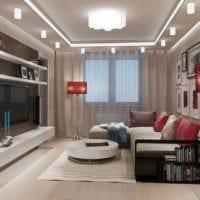 идея необычного интерьера гостиной спальни картинка