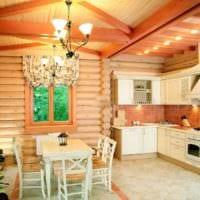 пример яркого стиля кухни в деревенском стиле фото