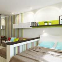 пример красивого интерьера гостиной спальни фото