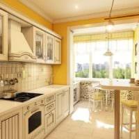 пример красивого интерьера кухни 11 кв.м фото