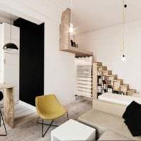 идея красивого декора студии 20 кв.м фото