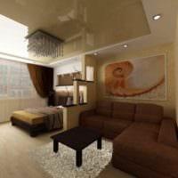 вариант светлого стиля гостиной 15 кв.м картинка