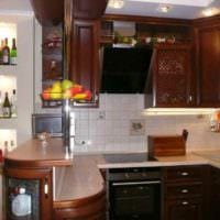 идея необычного дизайна кухни 10 кв.м. серии п 44 картинка