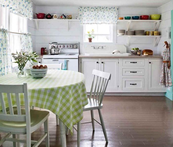 вариант красивого стиля кухни в деревенском стиле