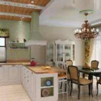 пример красивого дизайна кухни в загородном доме фото