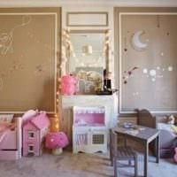 идея красивого стиля детской комнаты для девочки фото