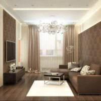 вариант яркого декора гостиной 15 кв.м фото