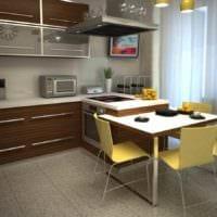 вариант светлого стиля кухни 10 кв.м. серии п 44 фото