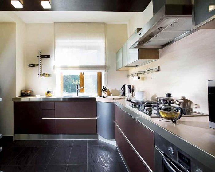 вариант светлого стиля кухни 11 кв.м