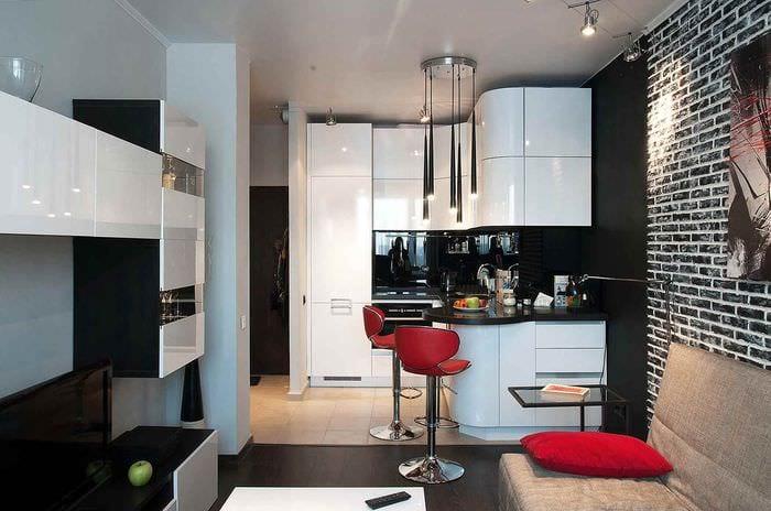 вариант светлого стиля кухни 12 кв.м