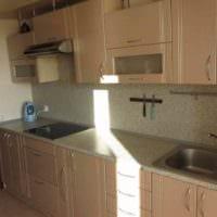 вариант красивого дизайна кухни 7 кв.м фото