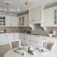 идея яркого дизайна кухни в классическом стиле картинка