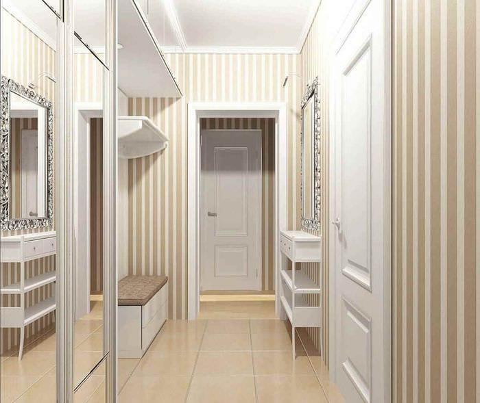 идея красивого интерьера прихожей в частном доме