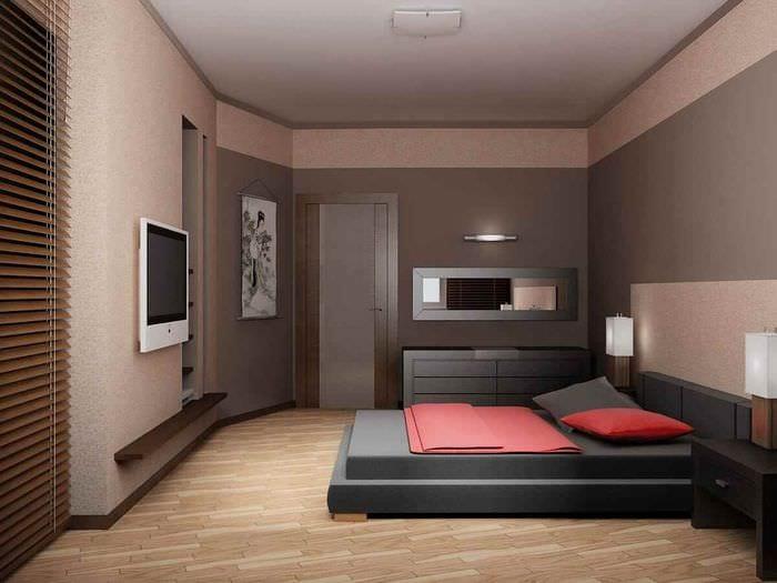 вариант яркого дизайна комнаты 12 кв.м