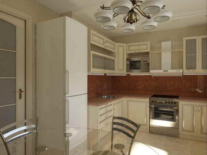 пример красивого декора кухни 11 кв.м