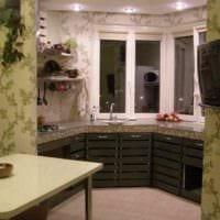 идея необычного стиля кухни 12 кв.м фото