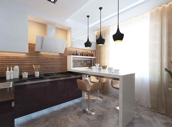пример красивого декора кухни 13 кв.м